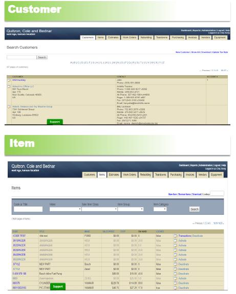 Customer & Item Feature