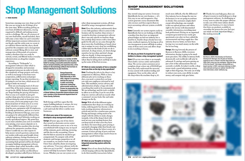 Engine Rebuilder Article: Shop Management Solutions